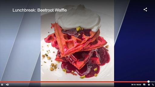 Lunchbreak: Beetroot Waffle